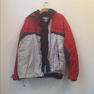 MENS COLUMBIA SPORTSWEAR RED JACKET SIZE XL